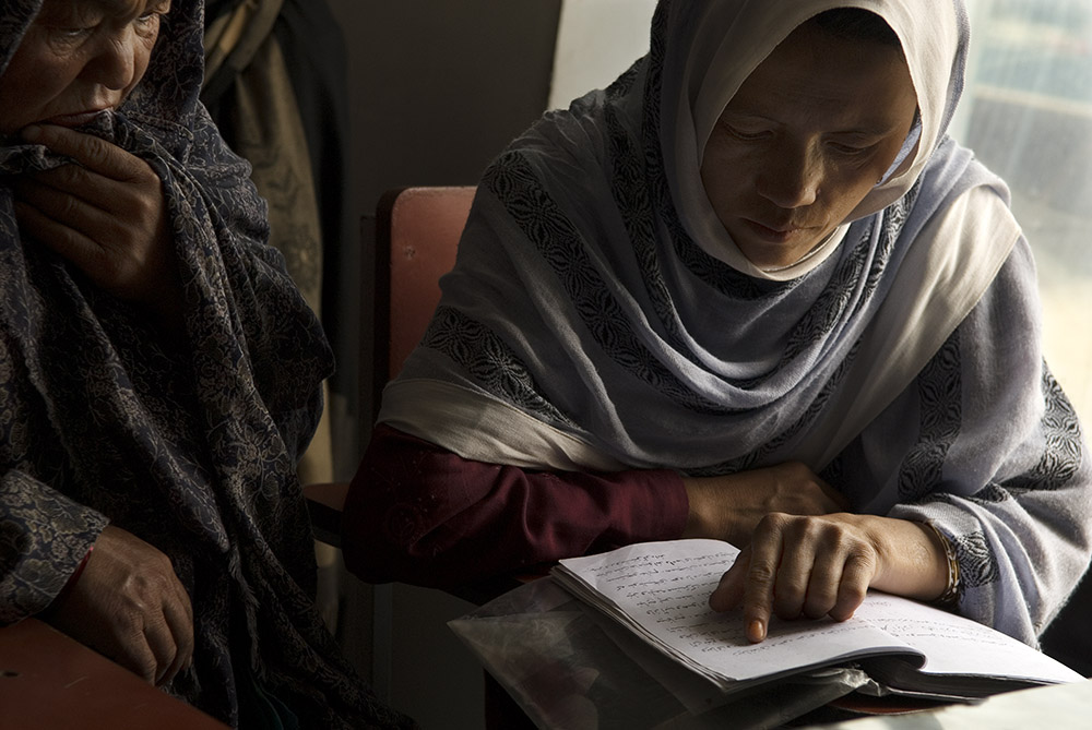 There are a lot of literacy programs in Afghanistan targeting children, but the Roqia Center is focusing on adult literacy, an area they believe is particularly underserved. Currently, Afghan literacy rates are estimated at 28%.