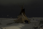 Teepee at Oceti Sakowin camp, Standing Rock, N.D.