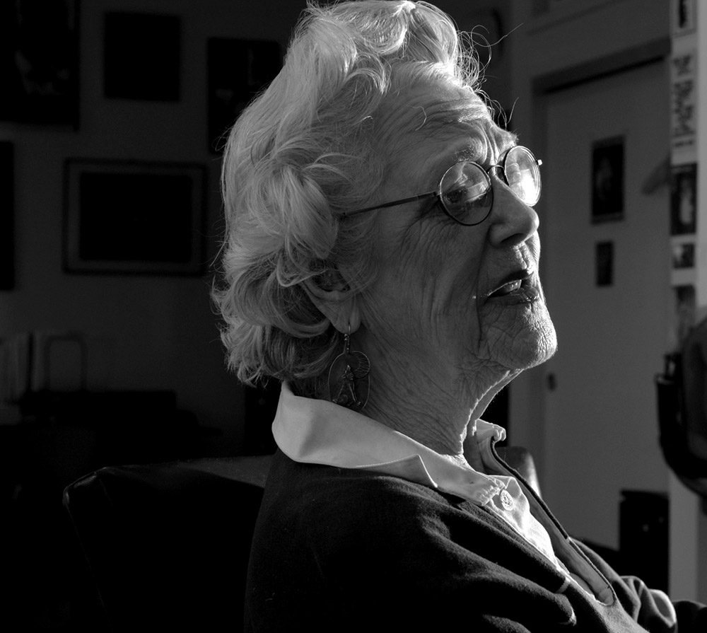 {quote}Hell no, we don't belong there. Who are you sons of bitches in Washington to think you've got a right?  I can't stop. This is wrong. This is evil. We are causing the deaths of thousands of people. We have no right{quote}   93 year old activist  Marie Runyon at home, speaking about her opposition to the war in Iraq.