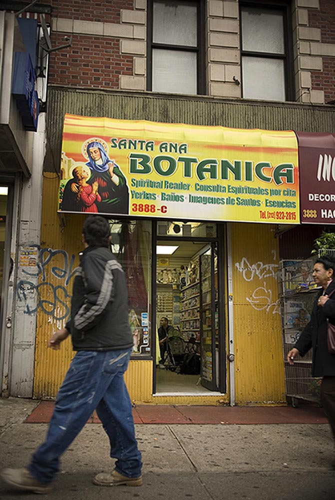 In 2007 Botanica Santa Ana, located in Washington Heights in upper Manhattan, was typical of the botanicas spreading through out the city.
