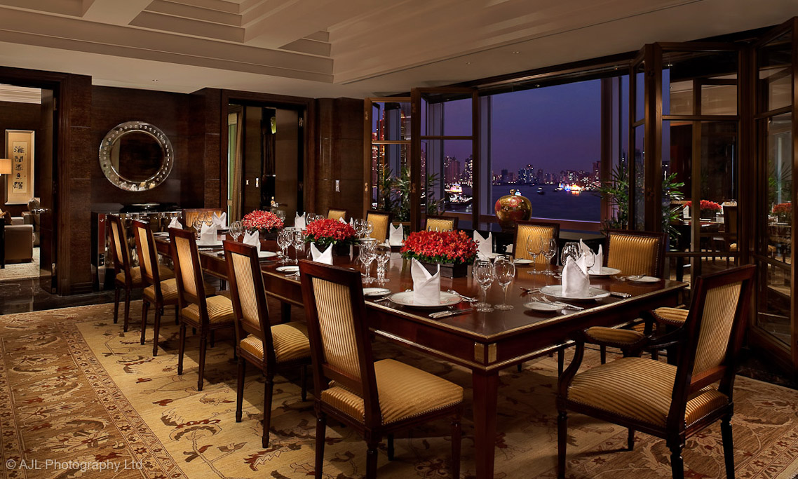 The peninsula shanghai the peninsula shanghai the for Formal dining room design