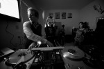 Diplo plays the Virgin House party DJ'ing in the kitchen.