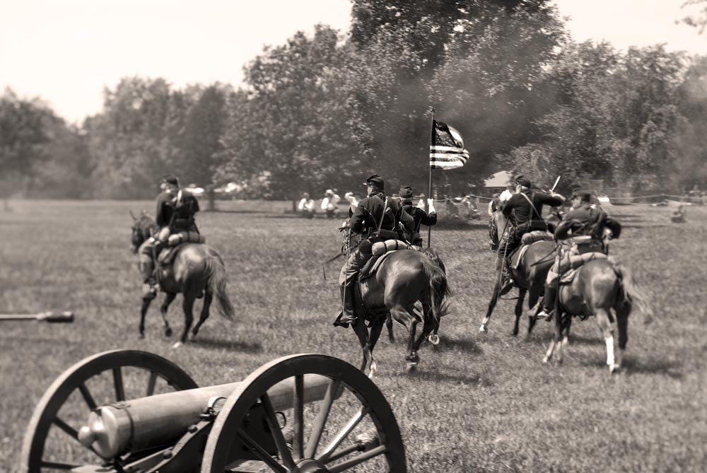 U.S. Infantry charging into battle.