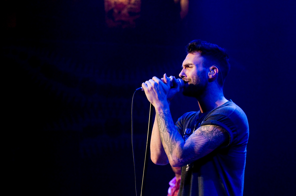 Maroon 5 lead vocalist and rhythm guitarist Adam Levine.