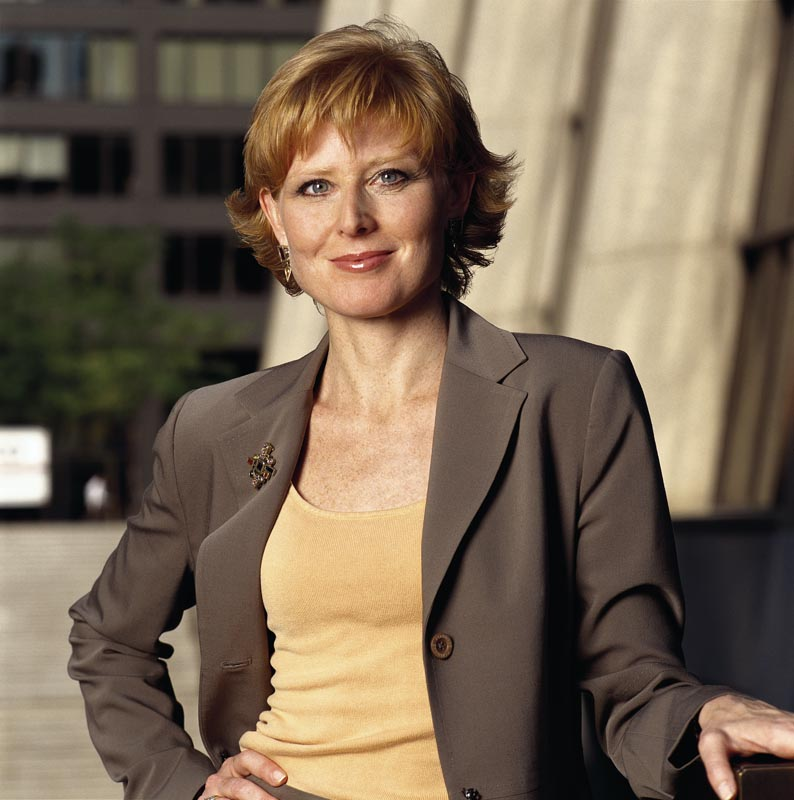 Diane Swonk, visiting professor and prominent economist.