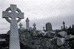 Irish crosses in a graveyard in Doolin.