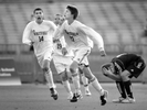 Whitfield's Peter Jacobi, center, celebrates his goal giving his team a 2-1 lead over St. Pius late in the second half of the Class 1 semi-finals of the boys soccer championships in Fenton on Friday.