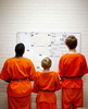 Juveniles at the Madison Co. Illinois Juvenile Detention Center line up to be transported to court.  The county is expanding the center to accomdate more juveniles.