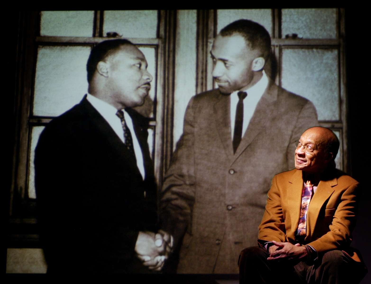 Friday January 14, 2005--St. Louis area civil rights leader Norman Seay first meet Dr. Martin Luther King in March of 1964.  Seay describes his meeting with King that day as one of the highlights of his life.Photo By David Carson/PD