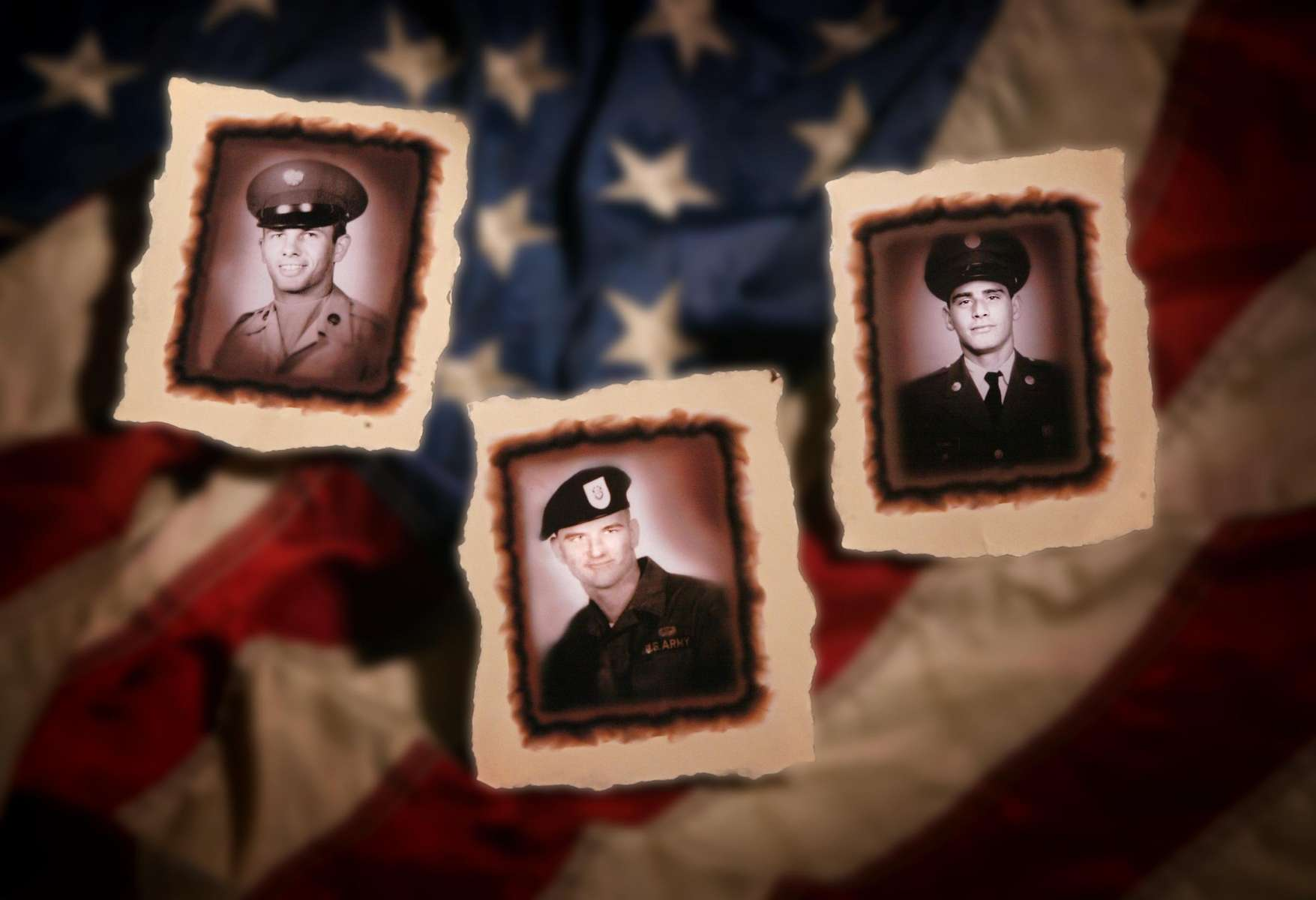 Three Granite City Soldiers Pfc. Richard N. Kimball Jr., left, Pfc. William C. Hinkle, center, and Sgt. Michael E. Adams were killed in Vietnam within five days of each other in November 1967.  The three soldiers will be specially honored during a ceremony on Memorial Day in Granite City.Photo Illustration by David Carson/PD