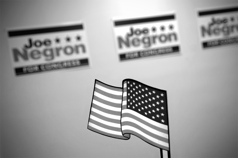 Congressional candidate Joe Negron's campaign headquarters in Stuart, Fla.