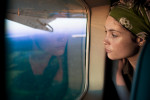 Actress Gemma Arterton takes in the sheer scale of deforestation from a plane, Acre State, Brazil