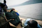 Lucie Malibua, Age 68, travels with her granddaughter on the Congo River, a 5-week journey between Kisangani and Kinshasa, the capital, Maluku, DRC, 2006