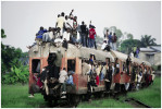 Passengers depart on the only commuter train in this city of 9 million people, Kinshasa, DRC, 2006