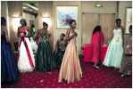Contestants in the Miss Congo pageant prepares backstage for the final at the Grand Hotel, Kinshasa, DRC, 2006