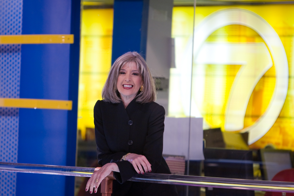 Hank Phillippi Ryan in the Channel 7 newsroom.