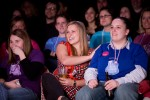 Bachelorette party-goers enjoy the Improv Asylum's Main Stage Show.