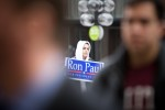 A lone supporter of former presidential candidate Ron Paul.