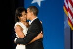 President Barack Obama and First Lady Michelle Obama at their last inaugural event, the Eastern Ball at Union Station.