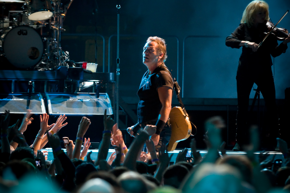 Bruce Springsteen and the E Street Band perform at the TD Banknorth Garden.