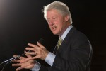Former President Bill Clinton at a rally supporting Governor Deval Patrick.