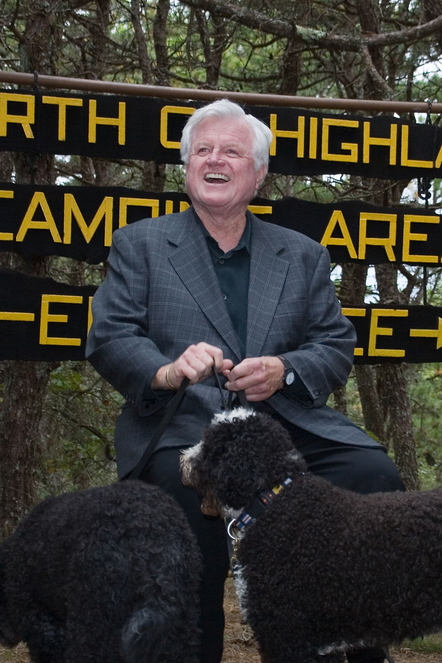 Sen.Ted Kennedy(D-MA) at the North of Highland Camping Area.