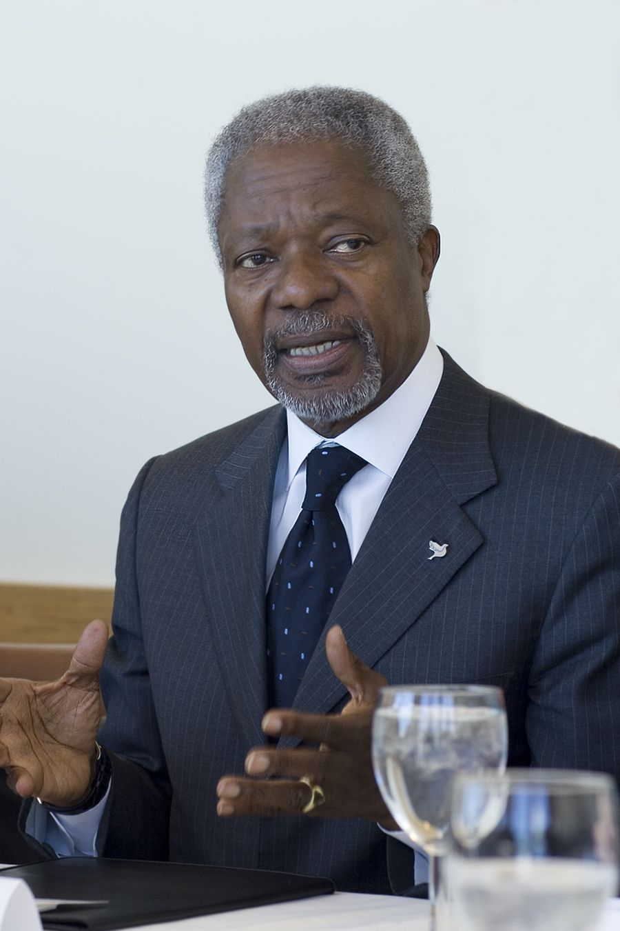 Former United Nations Secretary-General Kofi Annan.