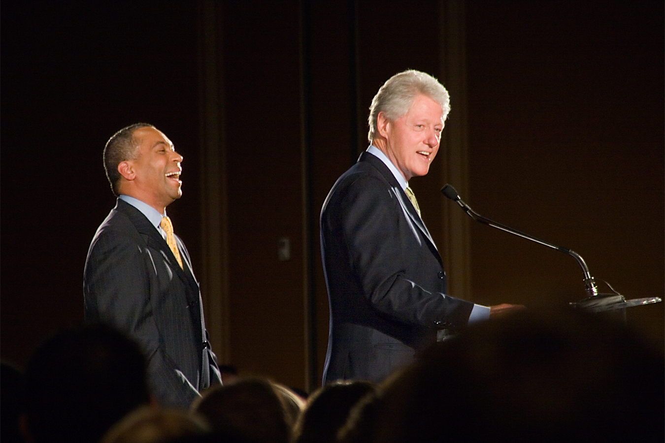 Former President Bill Clinton and Governor Deval Patrick.