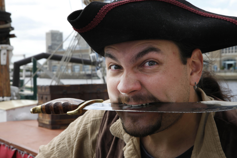In honor of {quote}Talk Like A Pirate Day{quote}, Independence Seaport Museum at Penn's Landing delivers a mock pirate battle featuring the tall ships Gazela, Kalmar Nyckel and the AJ Meerwald.