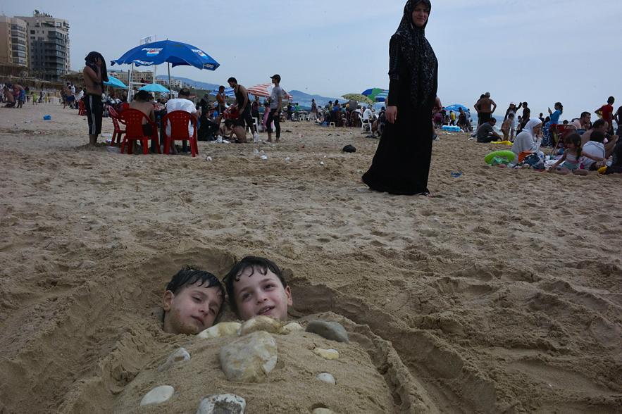 Beirut__boys_beach_under_sand
