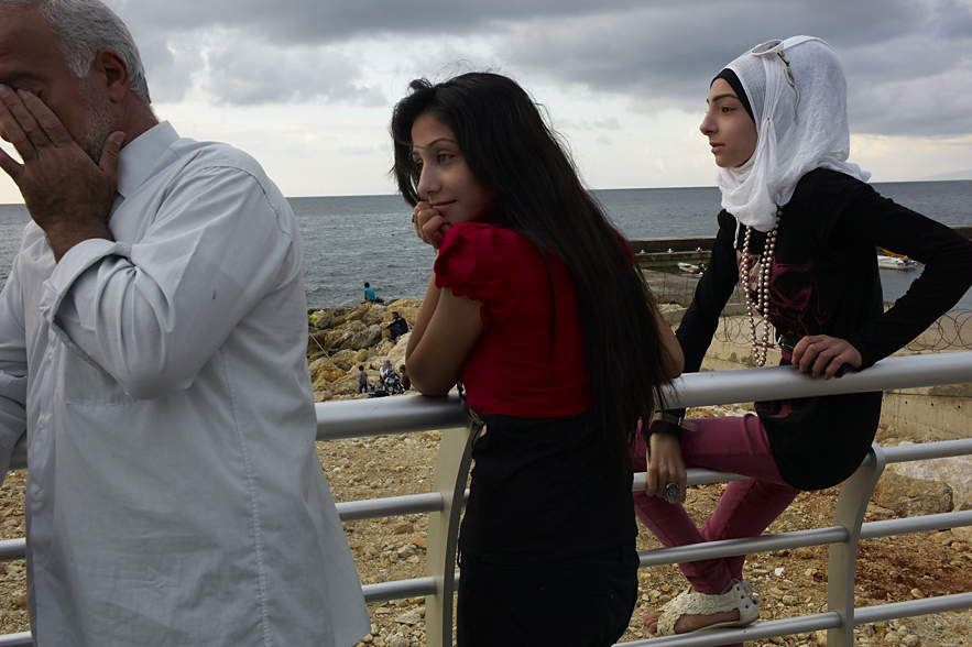 Young laidies at the Corniche, Beirut, May 2013