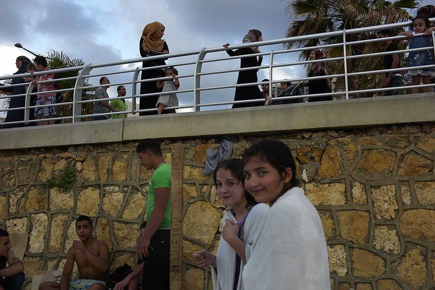At the beach, Beirut, May 2013