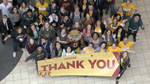 Carlson School students gathered during the annual Gopher Gratitude event to write thank-you cards, messages, and to show appreciation for the donors who have given scholarships and have helped make their education possible.