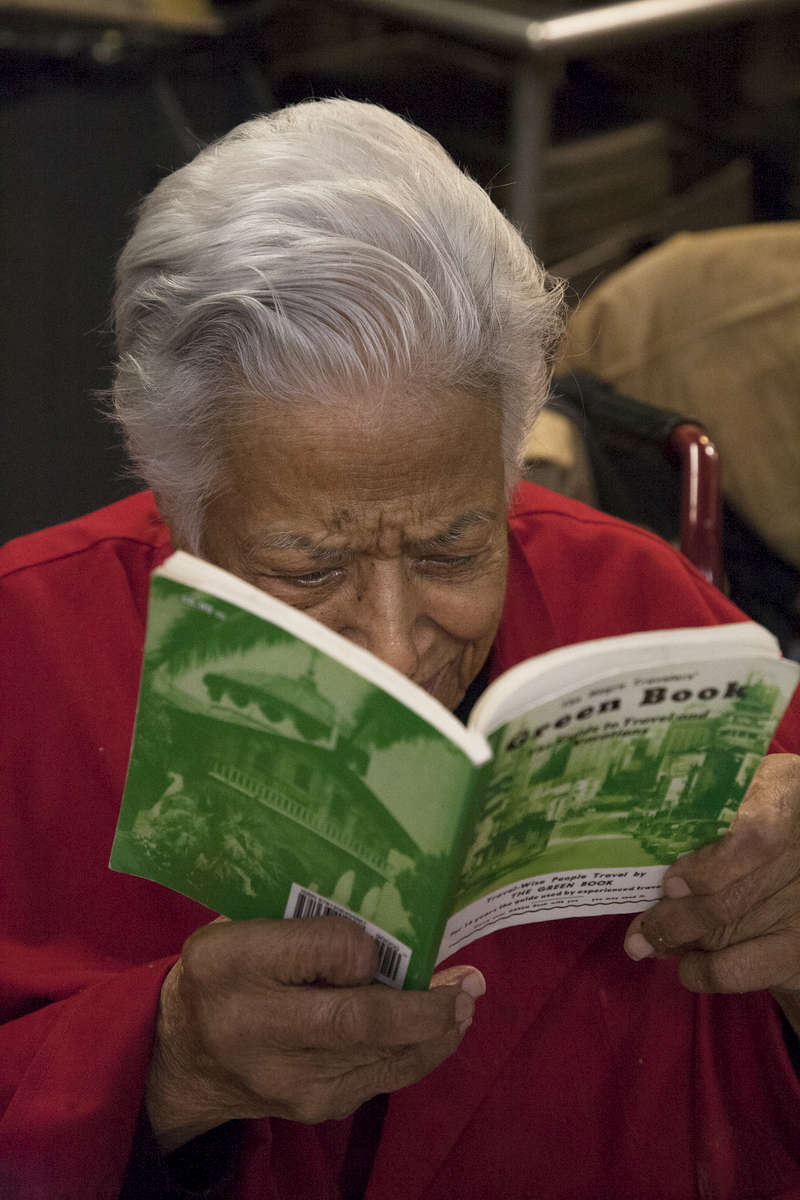 After two years of photographing on this project in December 2018 I visited Dooky Chase. The only place I have found so far that is still operating under the same name and owners. Here is Leah Chase 96 years old looking at the name of her place in the Green Book. Amazing lady!