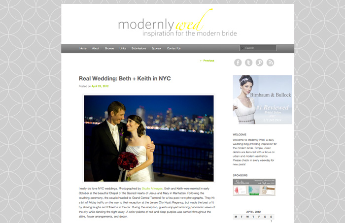 Modernly Wed - April 2012