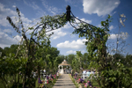 garden wedding ceremony at Grand Colonial