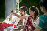 hindu indian wedding ceremony at Grounds for Sculpture. NJ wedding photographers