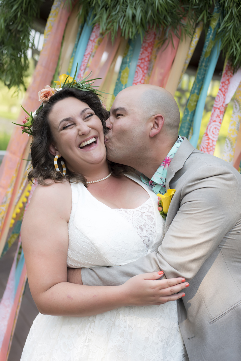 bride and groom had a colorful New Jersey wedding