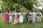 Colorful and creative wedding party in New Jersey. NJ wedding photographer
