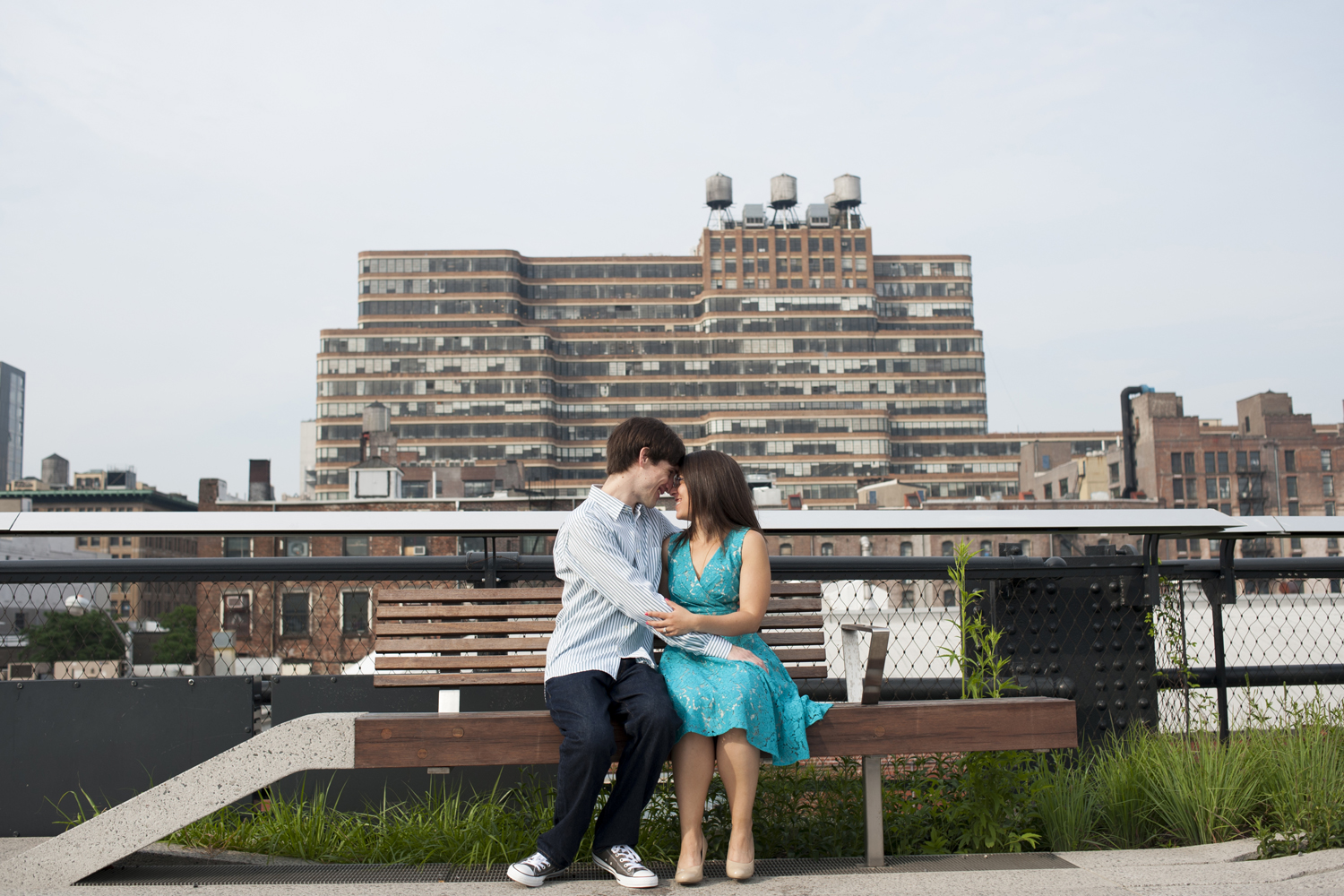 engagement session at The High Line, NYC. NYC wedding photographers