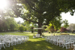 wedding ceremony at Orange Lawn Tennis Club