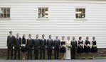 creative wedding party portrait. NJ wedding photographers