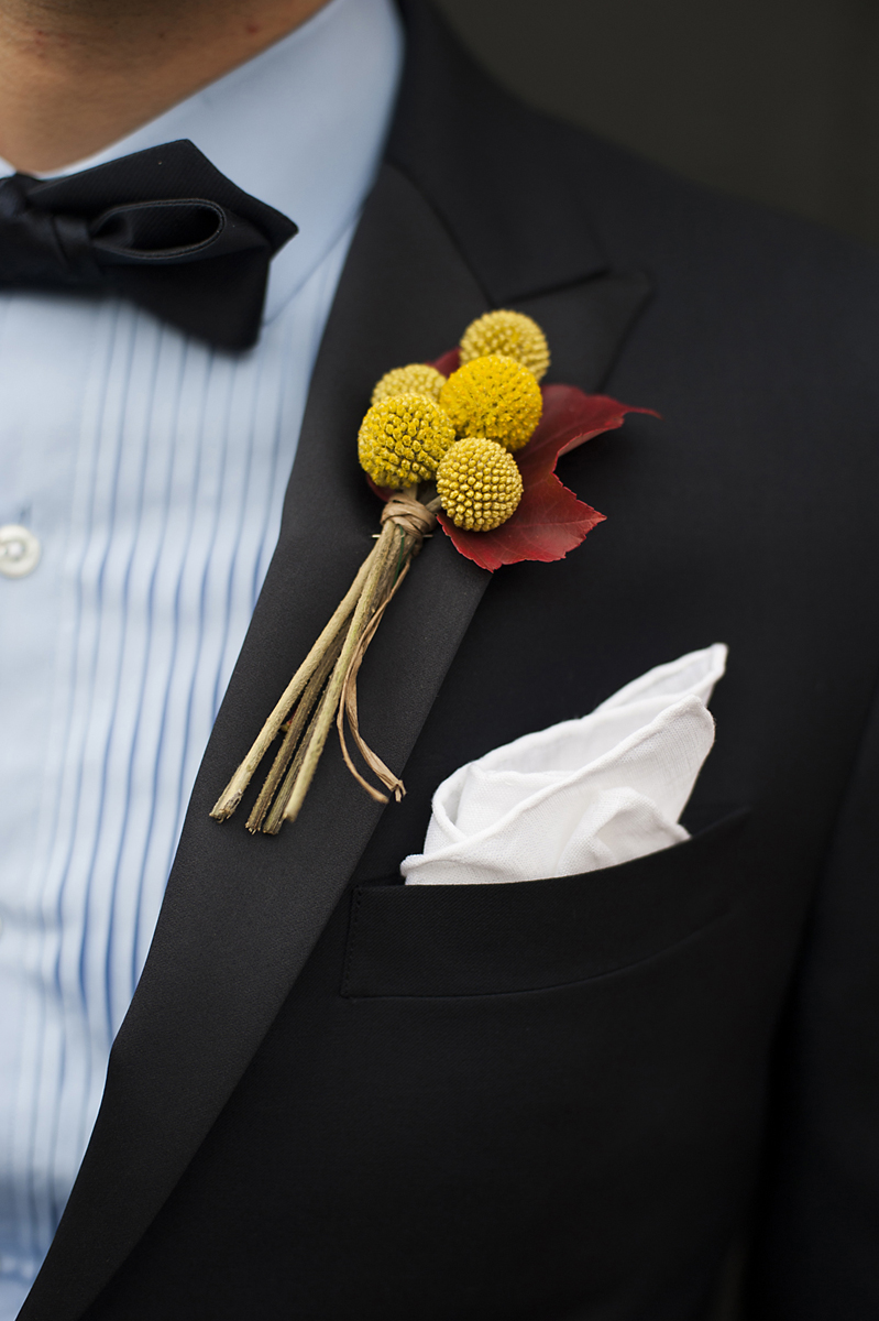 wedding boutonniere for Kolo Klub wedding in Hoboken. Hoboken wedding photographers