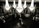 Father daughter dance under the chandeliers of Crystal Plaza.