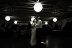 Bride and groom's first dance as married couple at their wedding at Rutgers Gardens. NJ wedding photographers