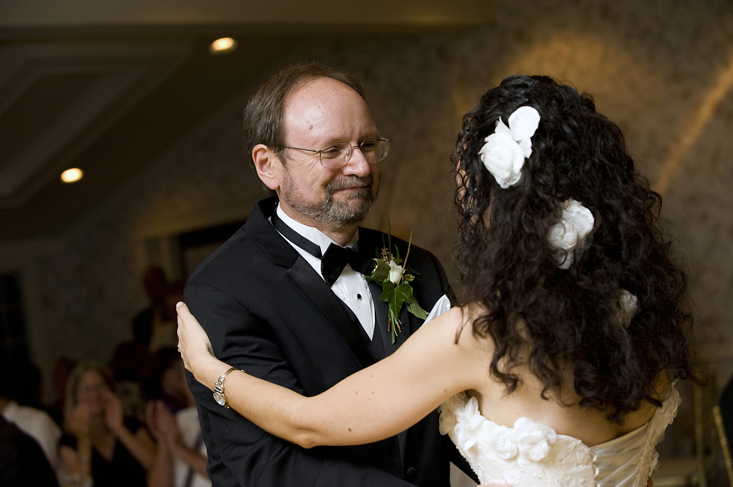 father daughter dance at wedding at Mansion at Bretton Woods. NJ  wedding photographers