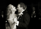 Bride and groom's first dance as married couple at their wedding at Harbor Links Country Club. NYC wedding photographers