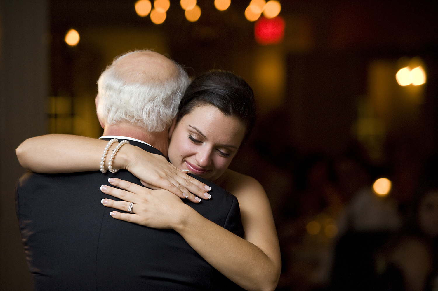 Father daughter first dance at wedding in Long Island. NYC wedding photographers