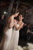 Brides dance their first dance at City Hall Restaurant, NYC. New York City Lesbian wedding