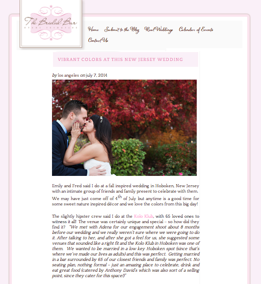 The Bridal Bar - July 2014read the full post here